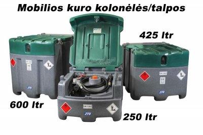 Mobili kuro talpa 250/425/600 litrų talpos