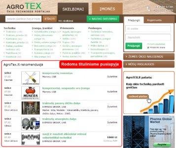 Iškelkite savo skelbimą į titulinį AgroTEX.lt puslapį