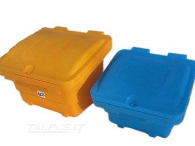 Plastikinės dėžės smėlio, druskos mišiniui