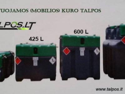 transportuojama (mobili) kuro talpa 950 l